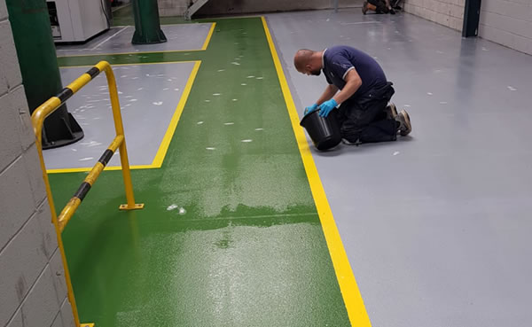 completing the final touches for workshop floor