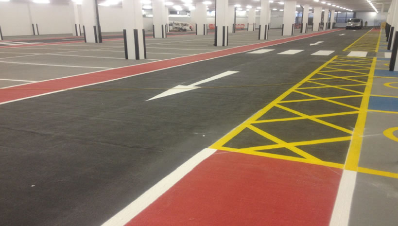 completed car park decking for a client in harrow