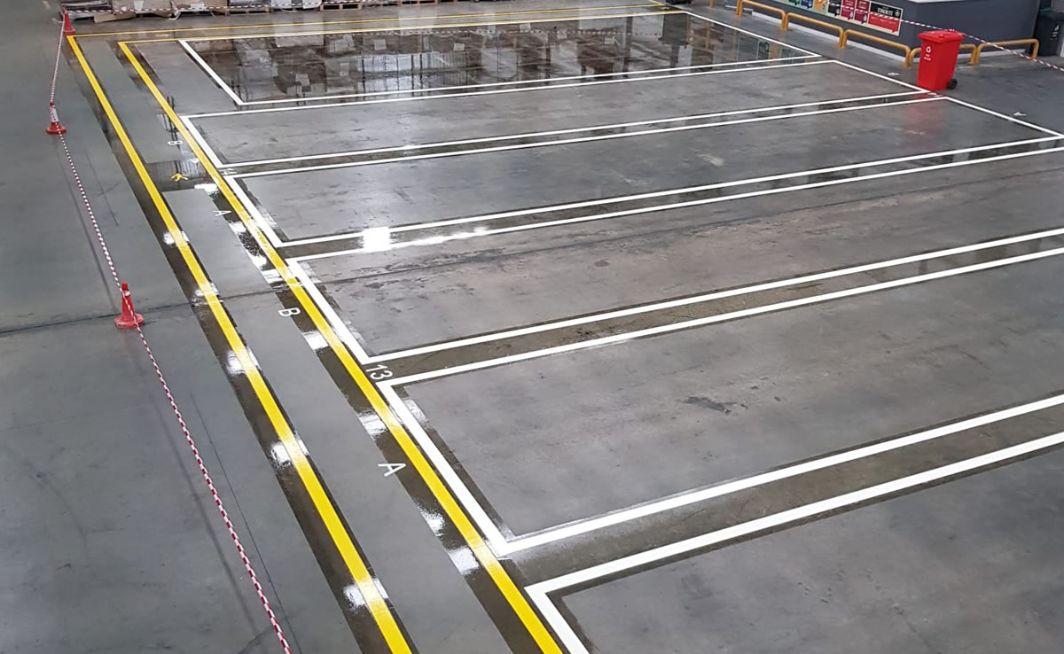 demarcation for a large warehouse