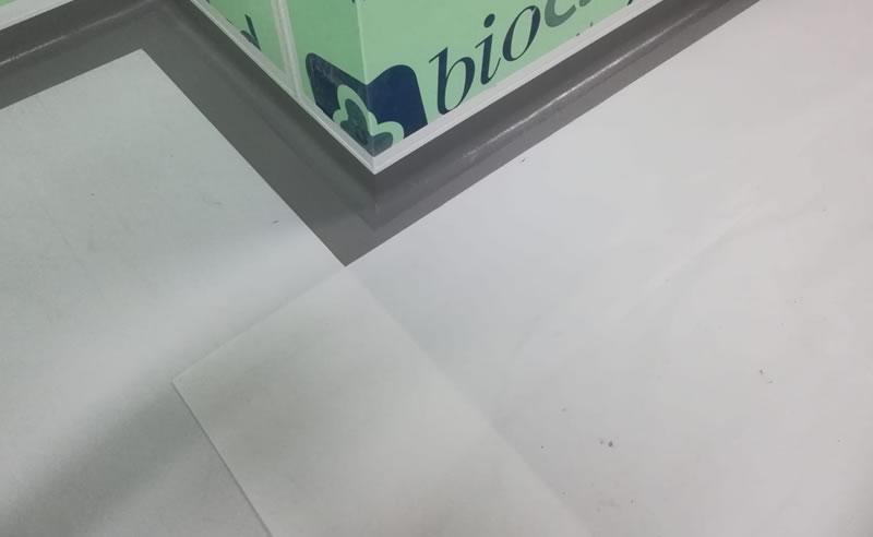 grey resin floor