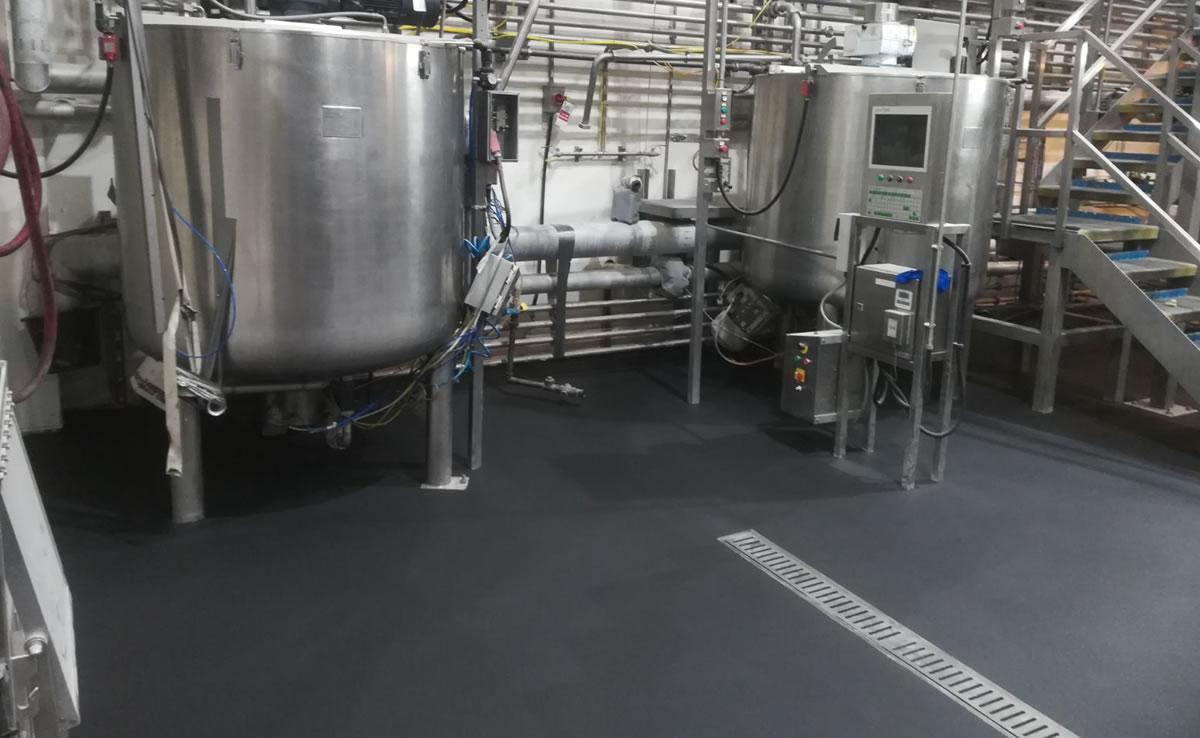 non slip flooring in a factory