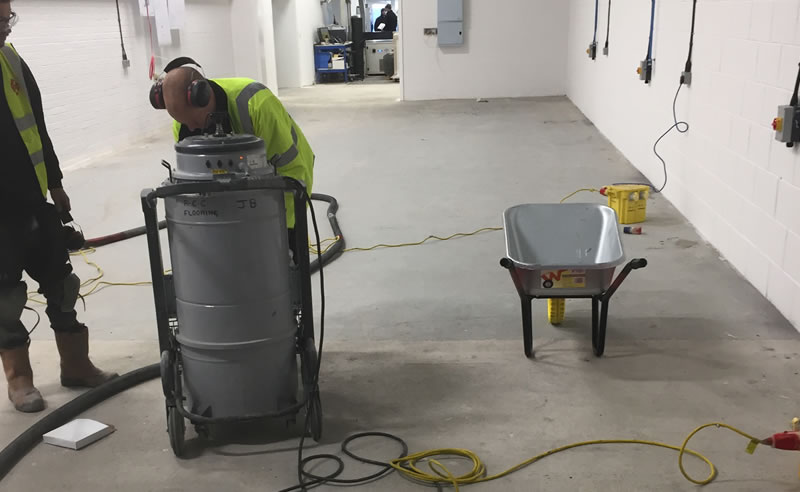 preparing concrete floor for resin coating