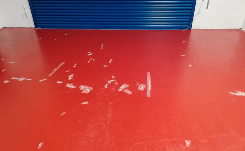 red floor nearly completed