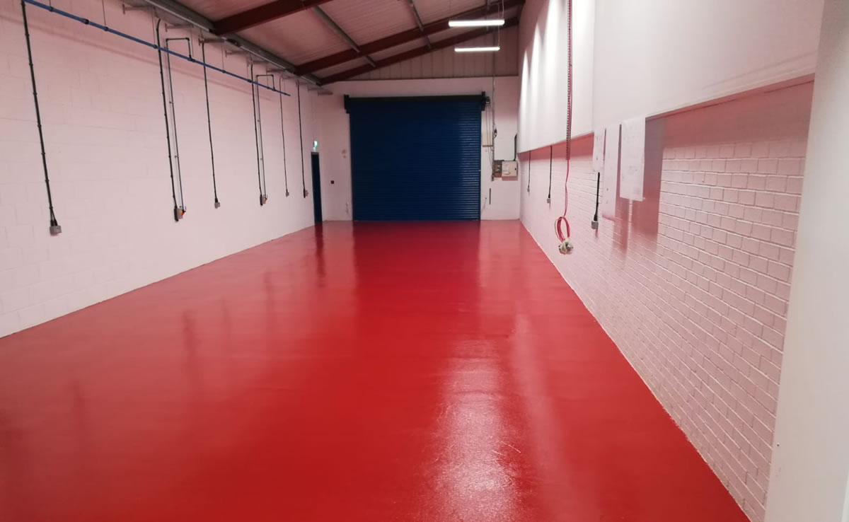 red resin floor for a gasket manufacturer