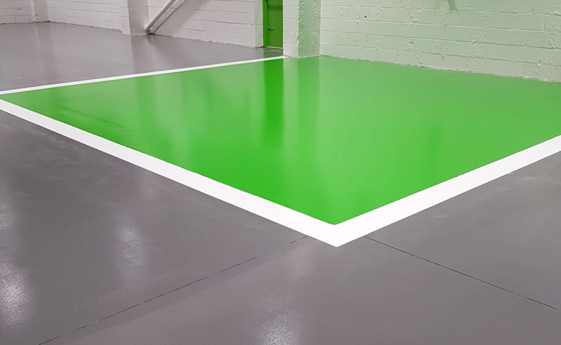green altro paint used for a motor repair centre