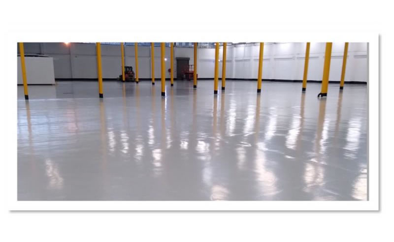 completed works on a floor at huddersfield university