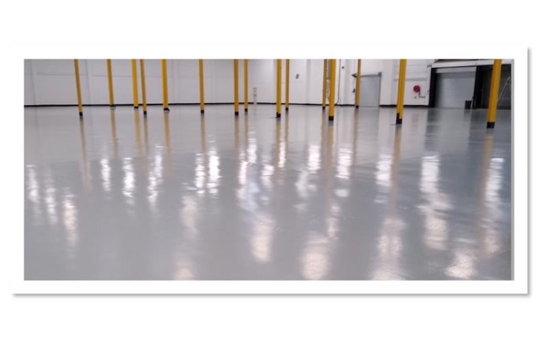 completed works on warehouse floor at huddersfield university