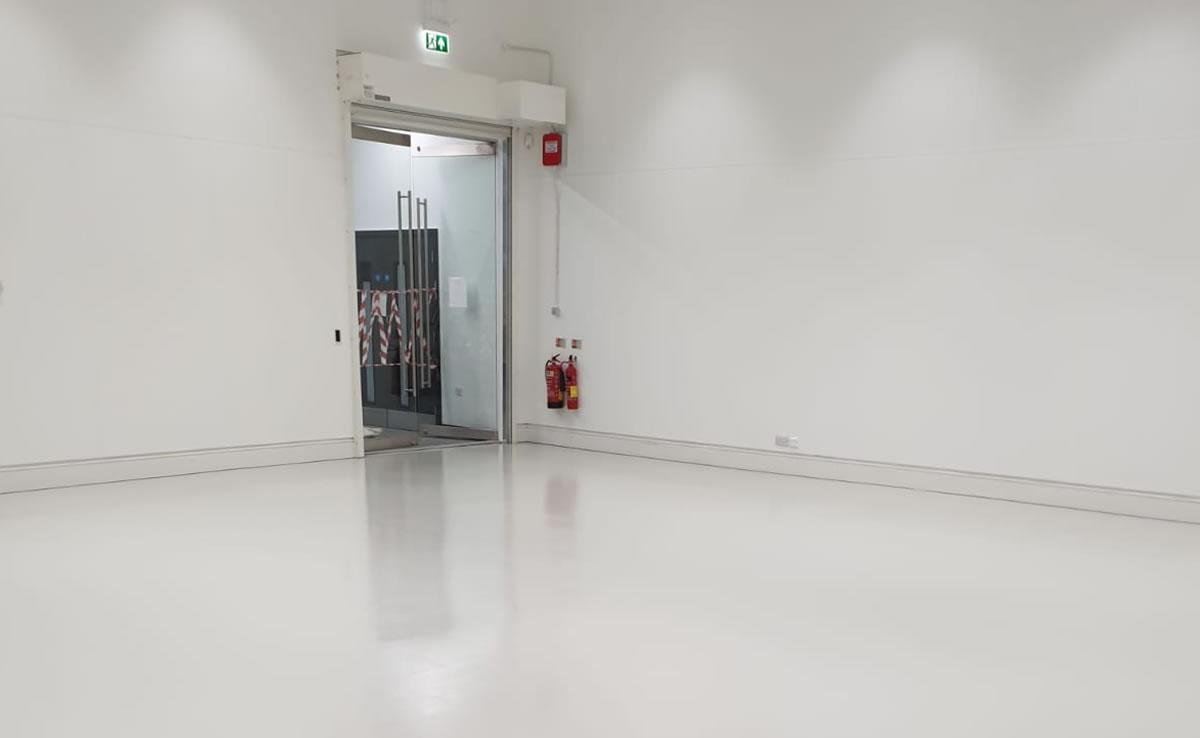 finished epoxy resin floor at leeds arts university