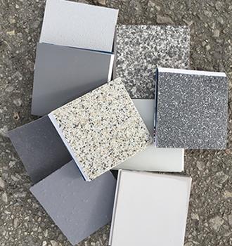 samples of resin flooring