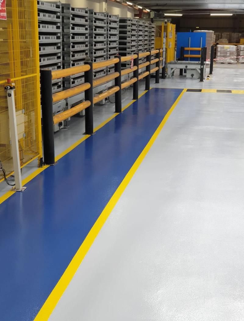 blue walkway installed in bradford