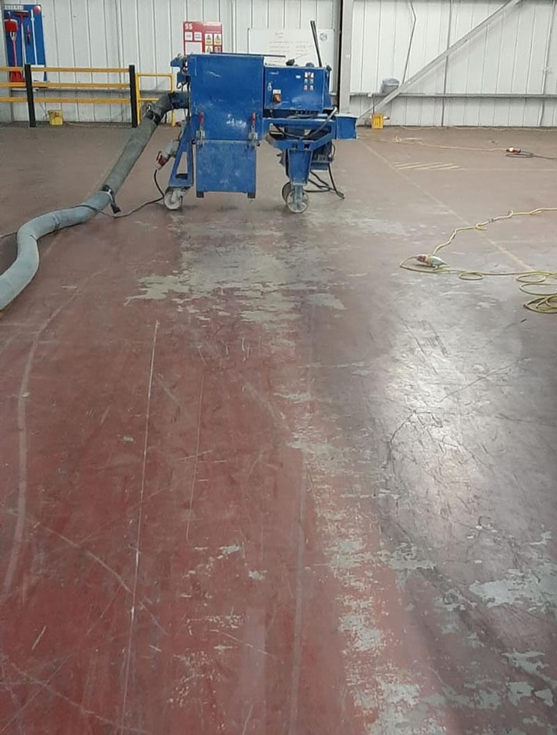 floor before resin floor coating applied
