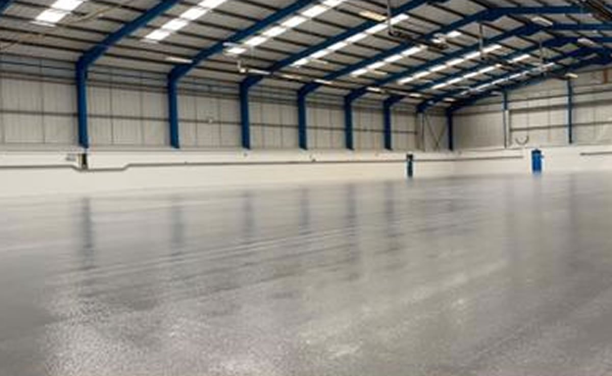 completed grey resin floor
