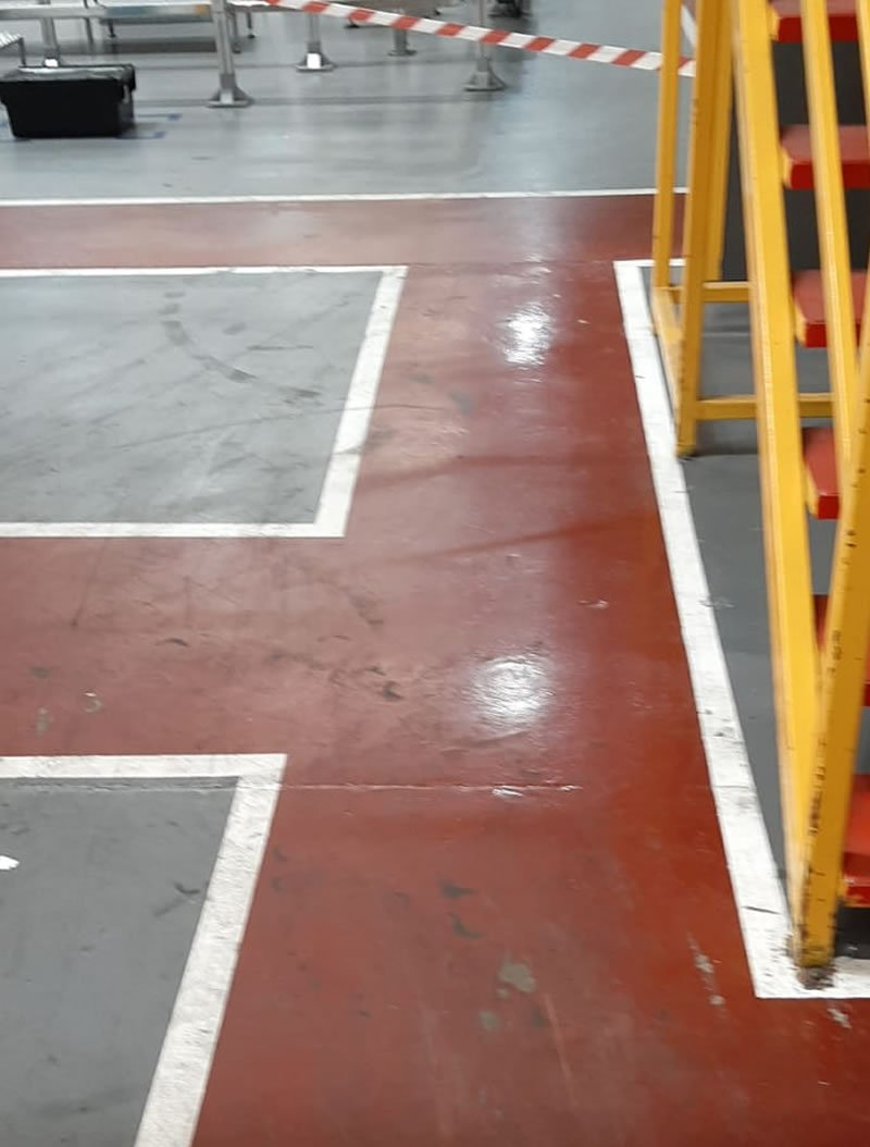 factory floor before works were carried out