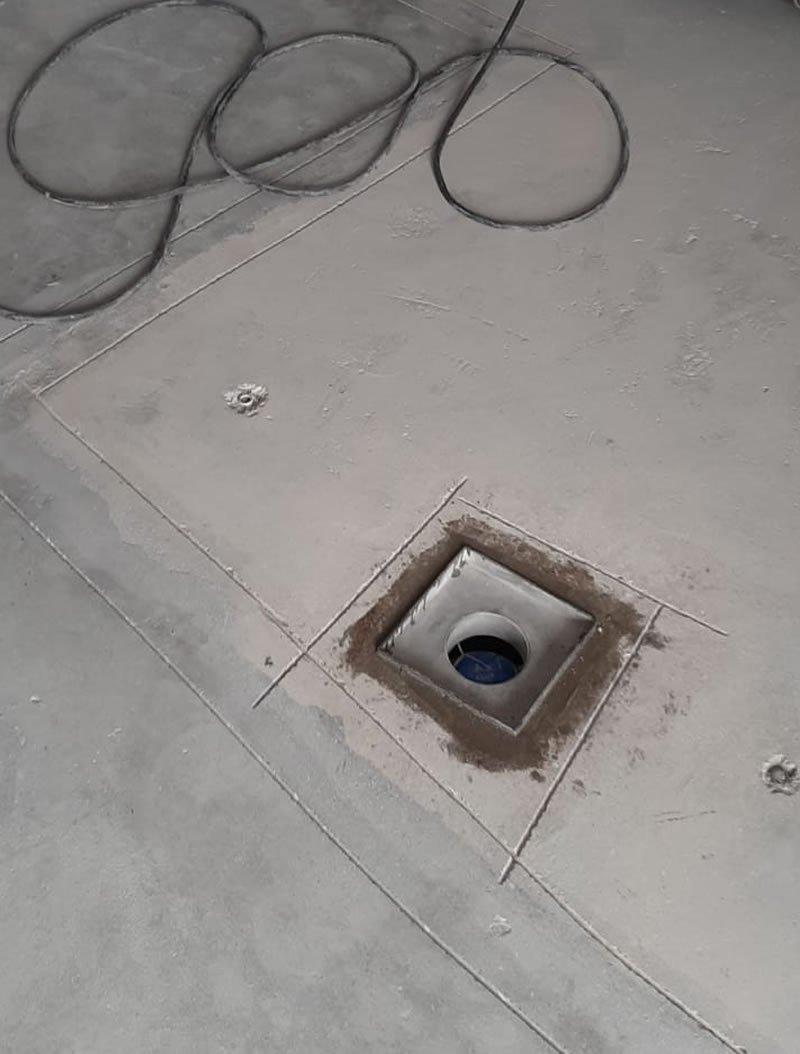 preparing concrete floor