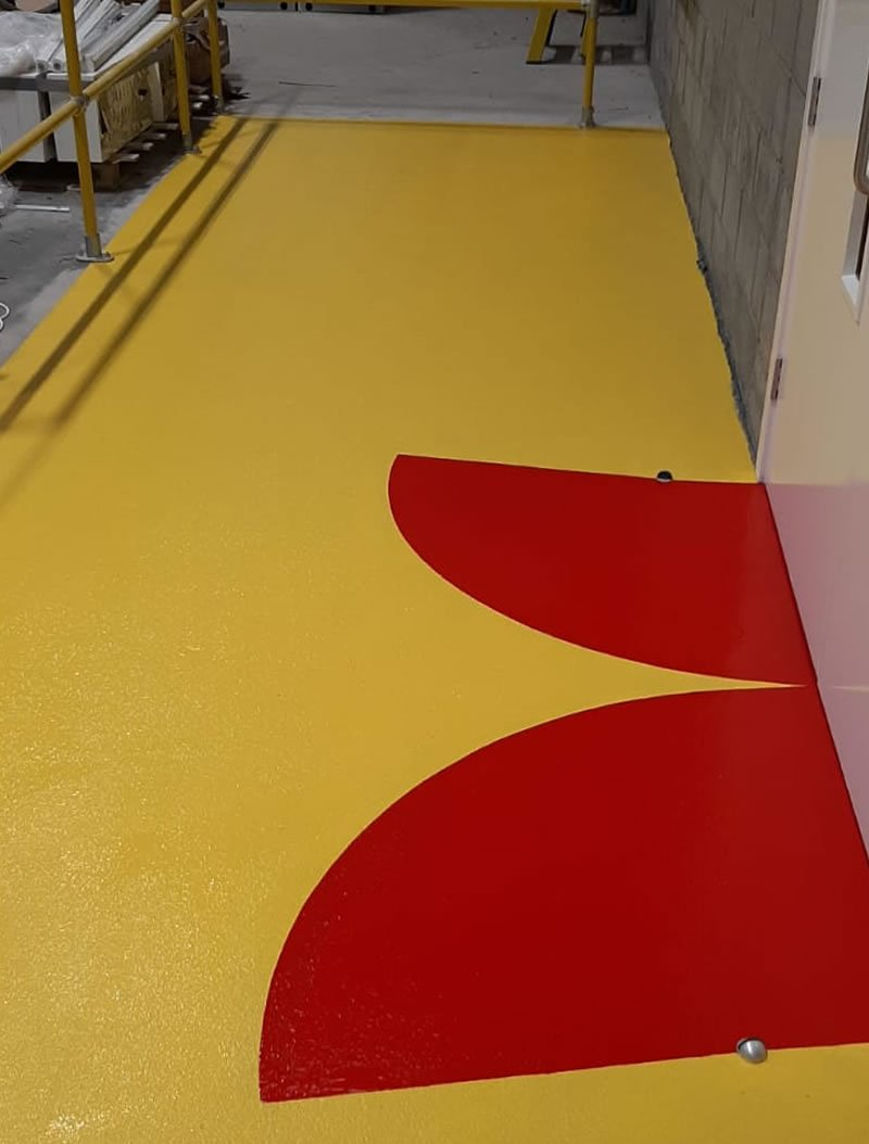 yellow and red demarcation