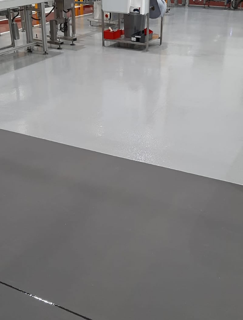 completed resin floor installation