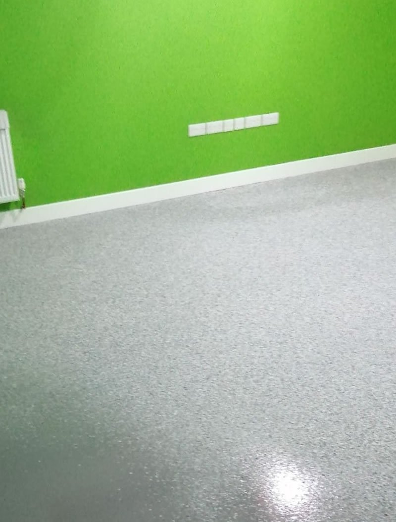 completed resin floor for a bearings supplier in huddersfield