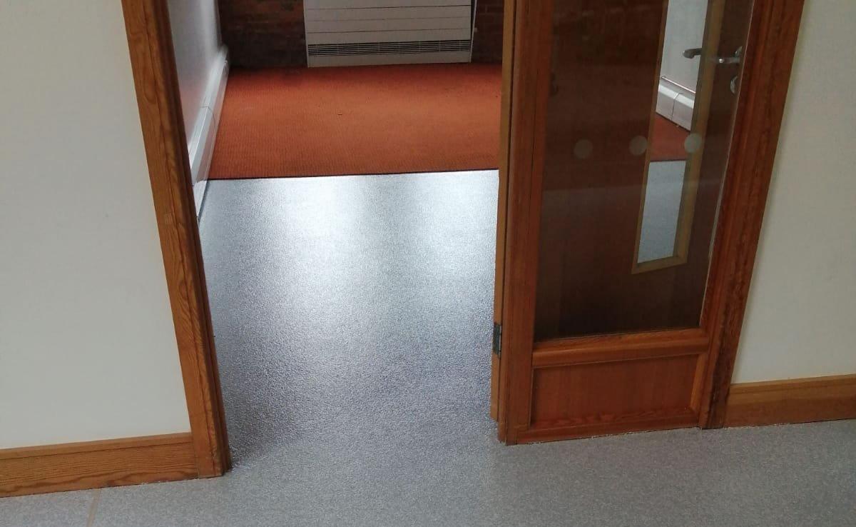 new floor in a corridor
