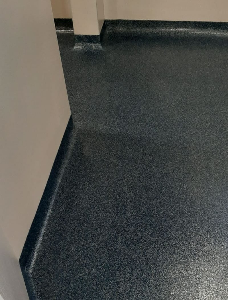 altro screed flooring with coving