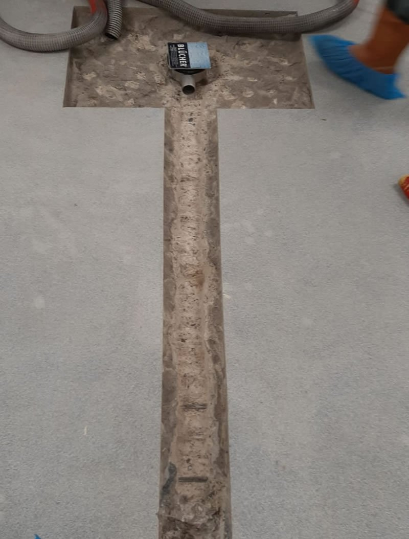 creating new drainage connecting to existing piping