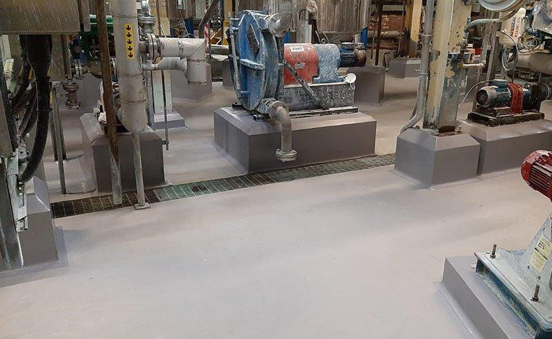 completed resin floor repairs