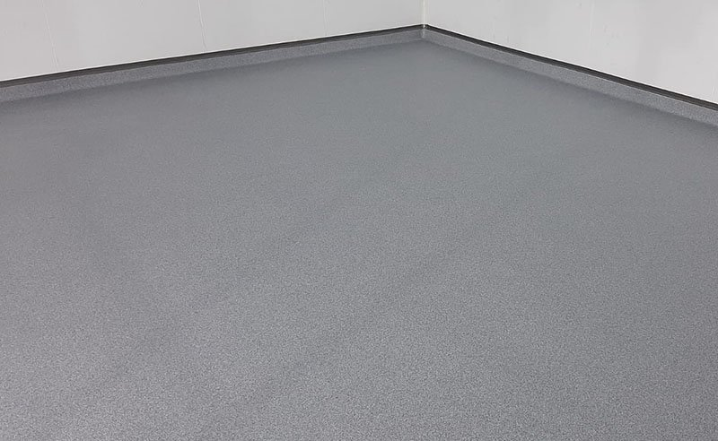 completed resin flooring with coving