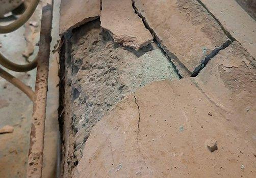 floor repairs to broken concrete