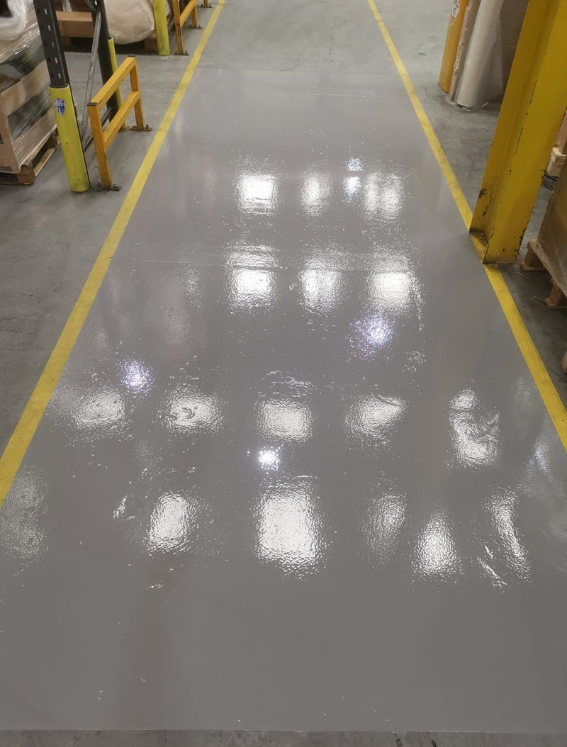 completed floor repairs for forklift truck traffic