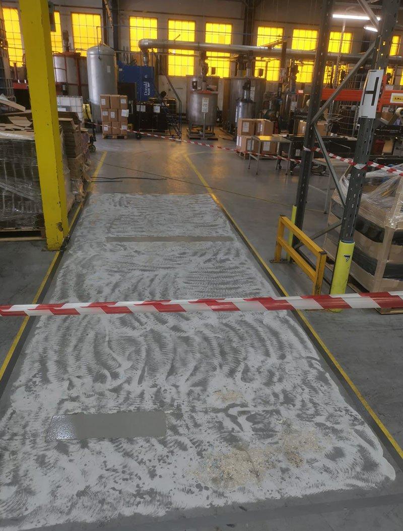 floor being prepared for repairs