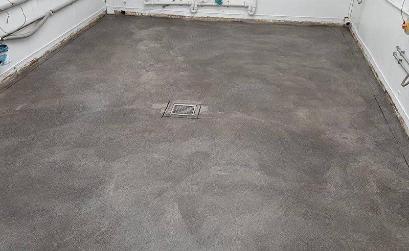 floor prepared and ready for the resin to be installed