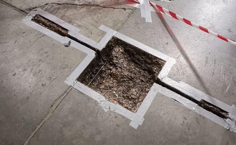 preparing warehouse floor for repairs