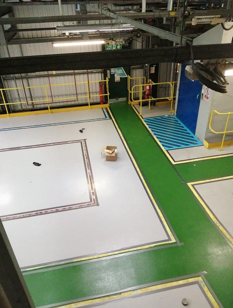 reinstating floor marking