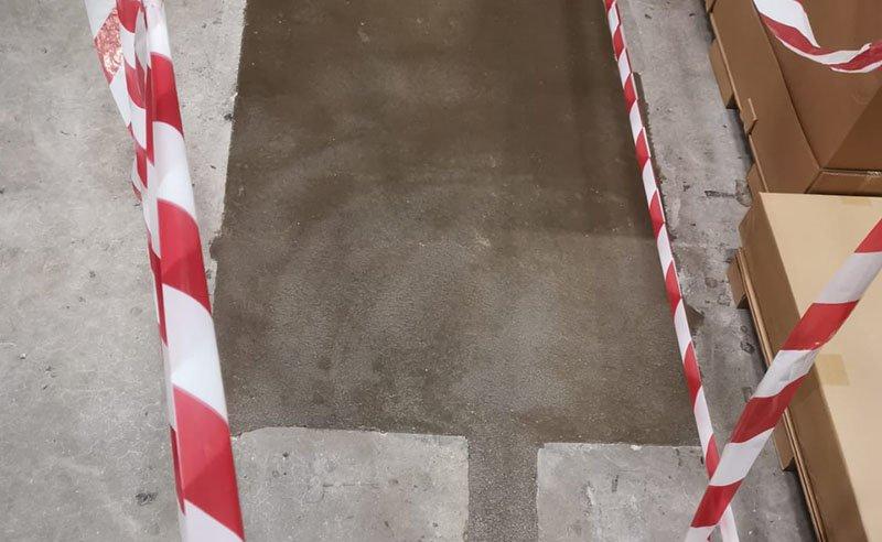 warehouse floor repairs completed