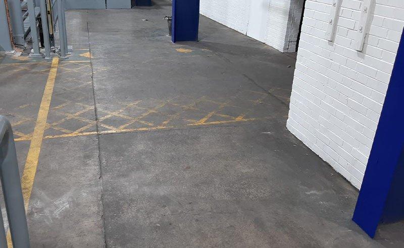 factory floor before resin flooring installation