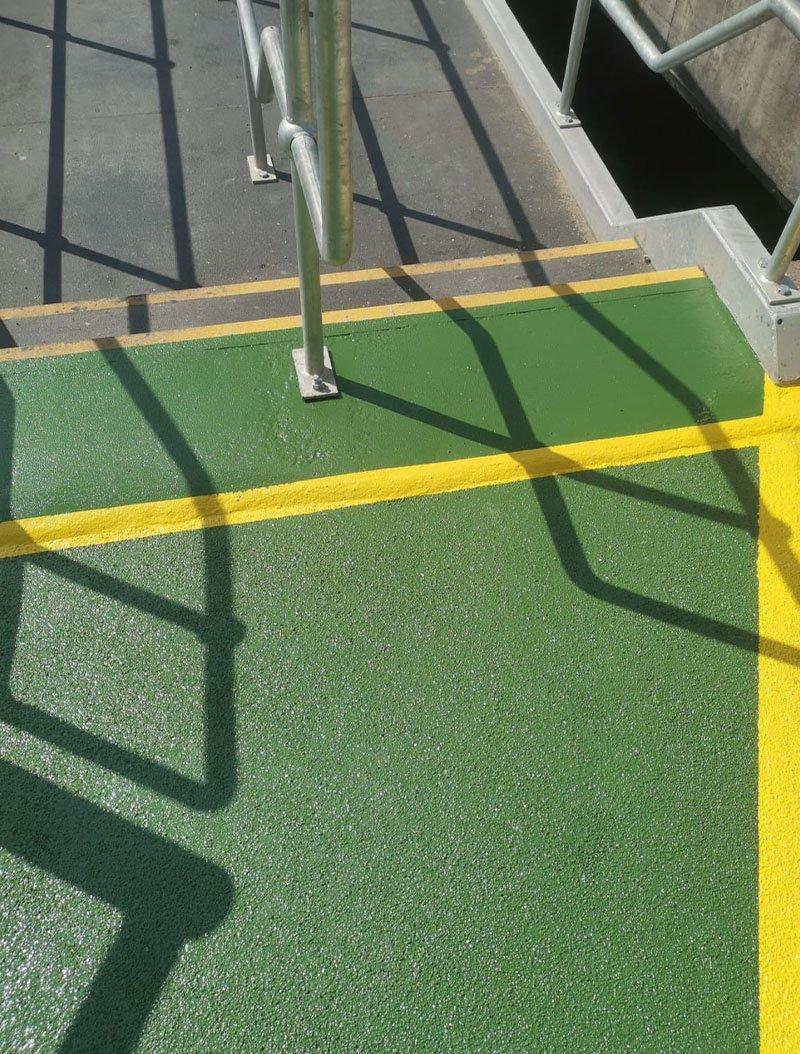 resin flooring used on steps
