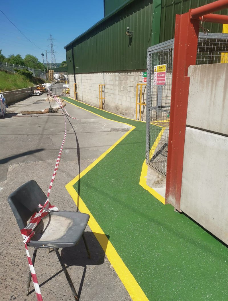 resin walkway at a factory in derbyshire