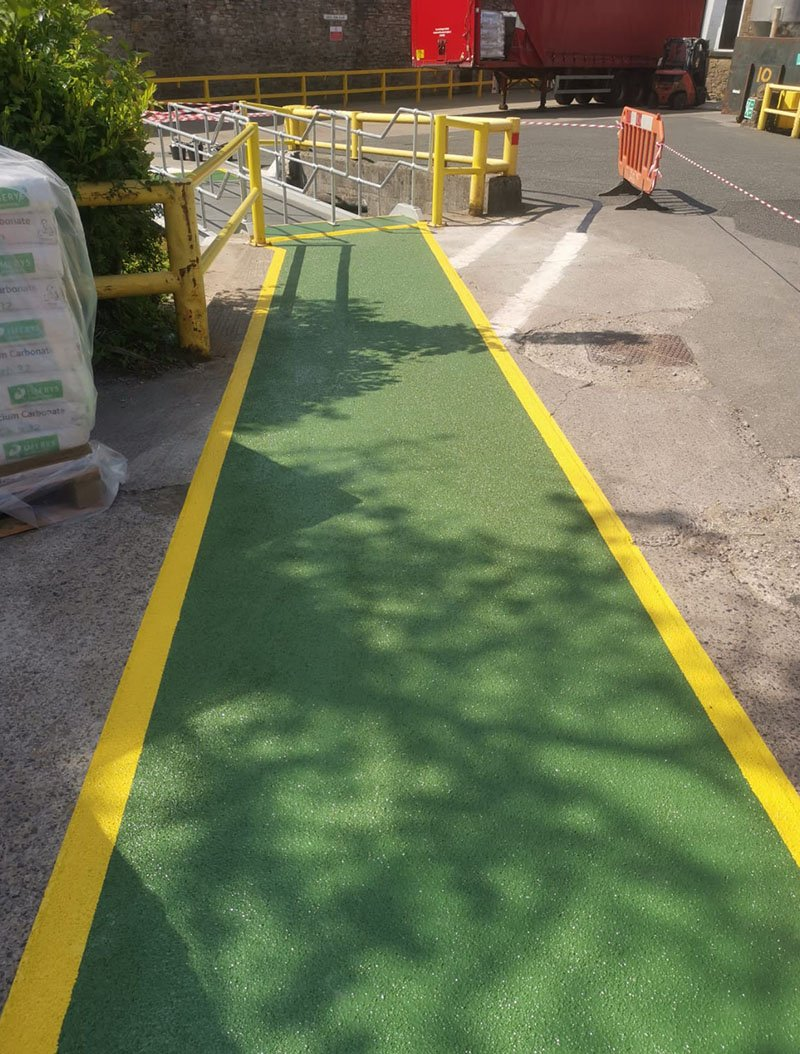 resin walkway used outside a factory