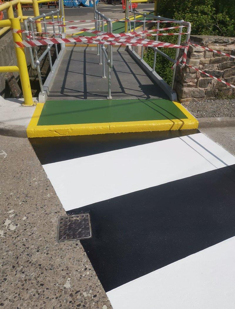 resin zebra crossing