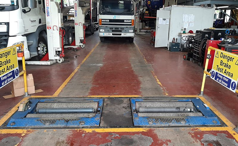 tired workshop floor before repairs carried out